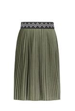 Like Flo Flo girls jersey coated plisse skirt maxi Olive
