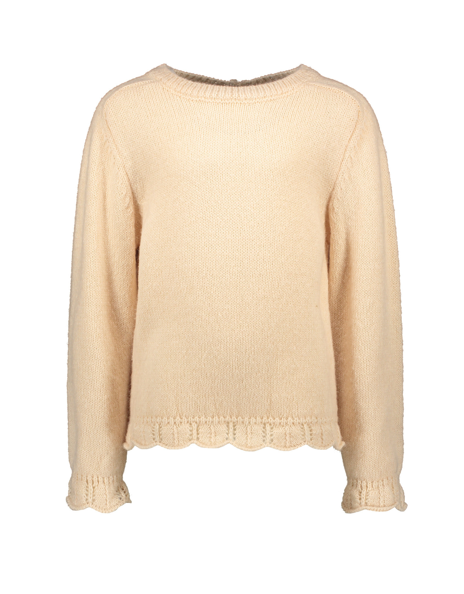 Like Flo Flo girls knitted ajour sweater Apricot