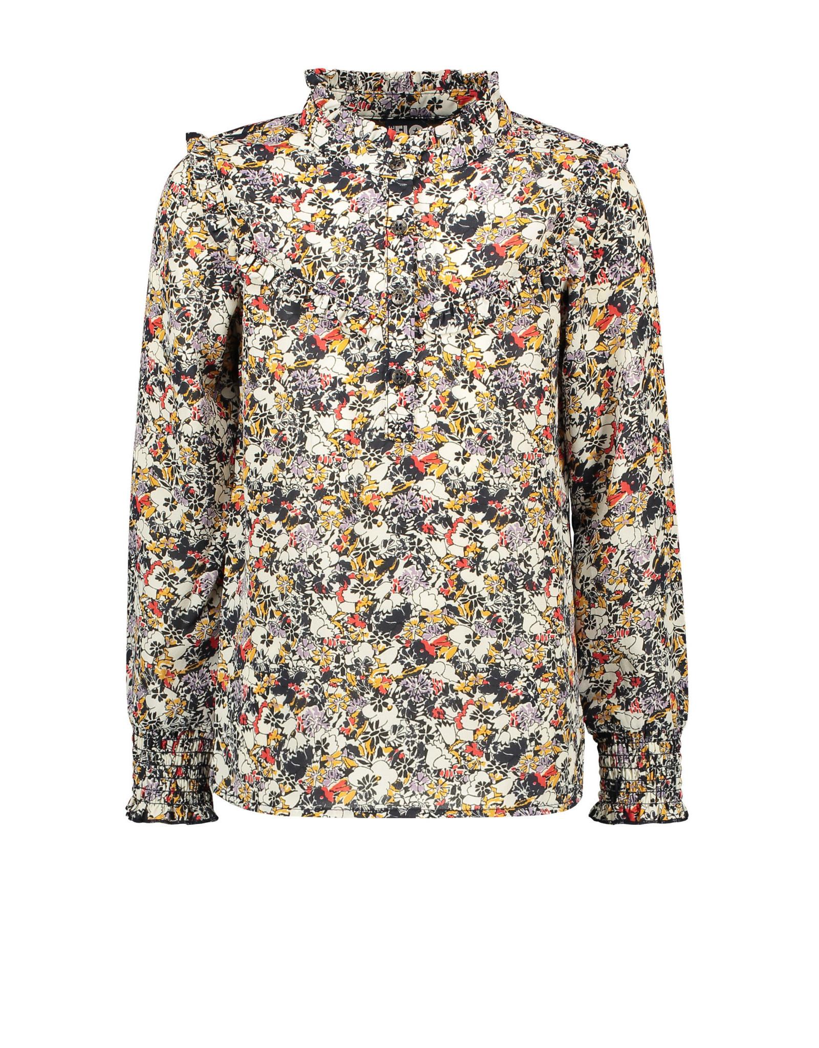 Like Flo Flo girls woven crepe blouse Graphic flower