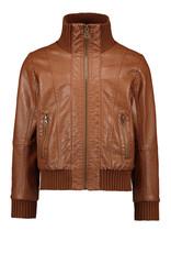 Like Flo Flo girls vegan leather biker jkt Camel