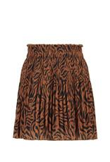 Like Flo Flo girls woven crepe plisse skirt Cognac