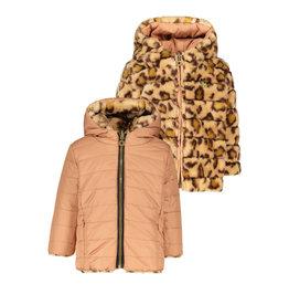 Like Flo Flo baby girls hooded reversible jacket Old pink