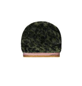 Like Flo Flo girls fur hat with rib Army