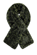 Like Flo Flo girls fur scarf double layer Army