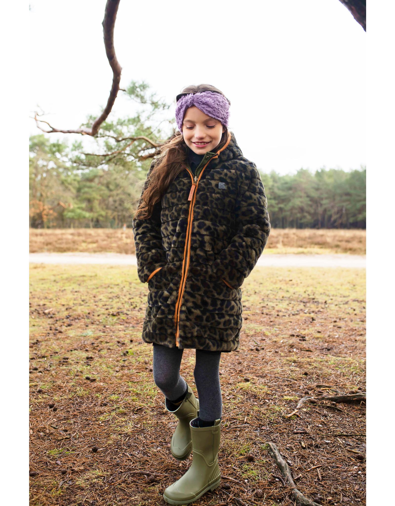 Like Flo Flo girls reversible hooded long jacket Army