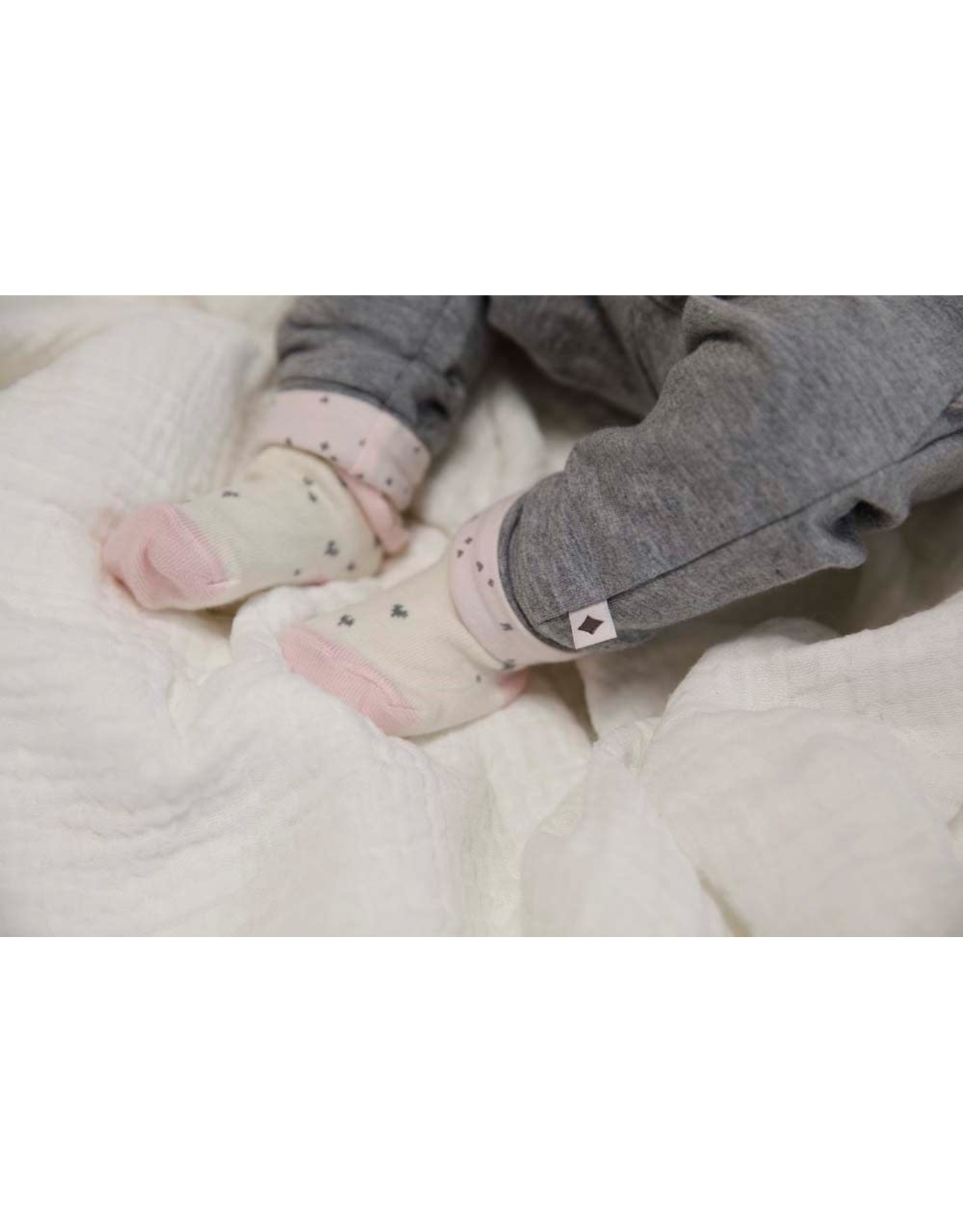 Feetje Broek ruches - Cutest Thing Ever Antraciet melange