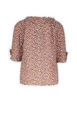 Like Flo Flo baby girls fancy double fabric top Old pink