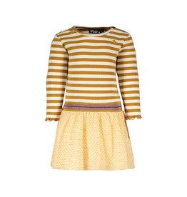 Like Flo Flo baby girls YD stripe dress with mesh skirt Camel