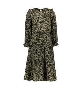 Like Flo Flo girls fancy double fabric maxi dress Army