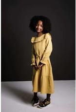 Like Flo Flo girls fancy double fabric maxi dress Mosterd