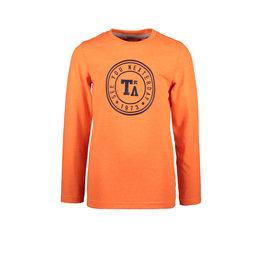 Tygo & vito T&v Longsleeve round logo print, NEON Shocking Orange