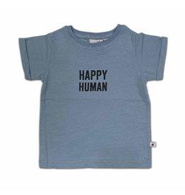 COS I SAID SO Happy Human T-shirt Faded Denim