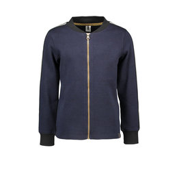 B-nosy Boys jersey check shirt with zipper closure 181 clever black/blue check