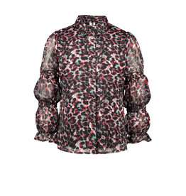 B-nosy Girls woven blouse, smock details sleeves 088 brushed AO