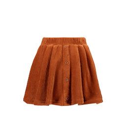 B-nosy Girls a-line corduroy skirt with button closure and belt 575 Camel