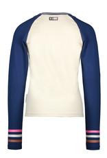 B-nosy Girls raglan t-shirt with big chest print 012 Cotton