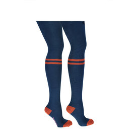 B-nosy Girls B.Better thight with tekst stripe on knee 159 lake blue