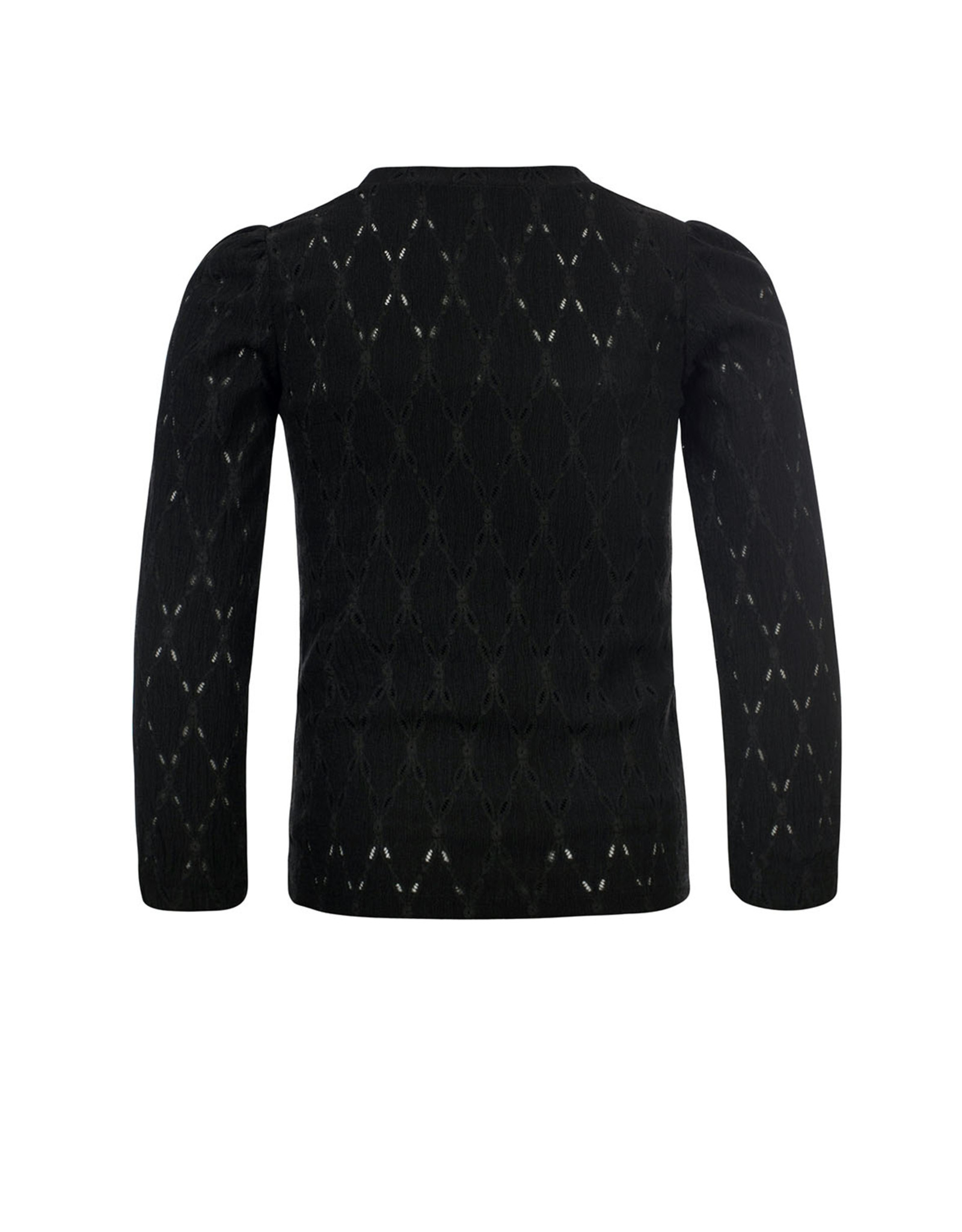 Looxs 10Sixteen crinkle lace top black