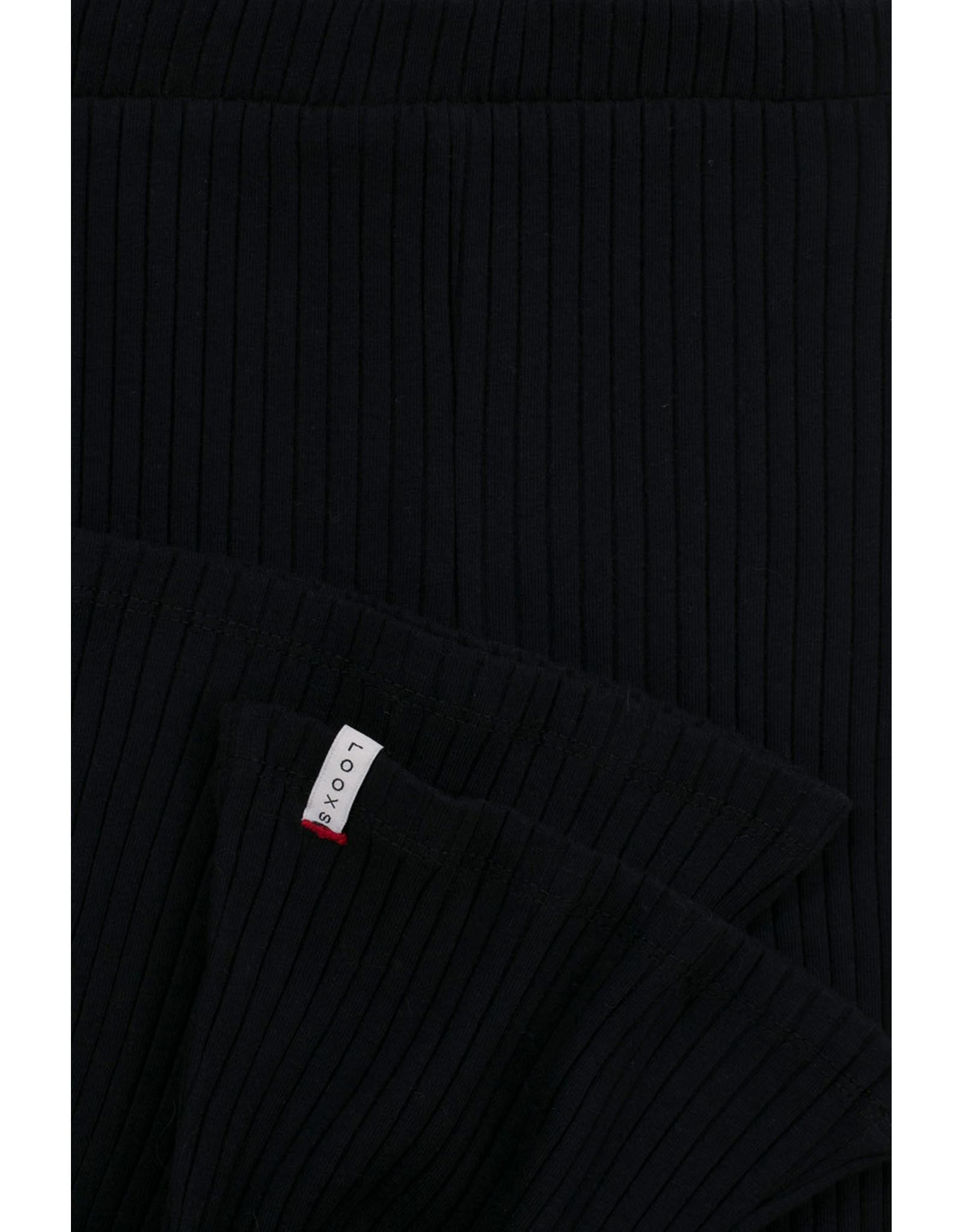 Looxs 10Sixteen Tie dye flare pants black