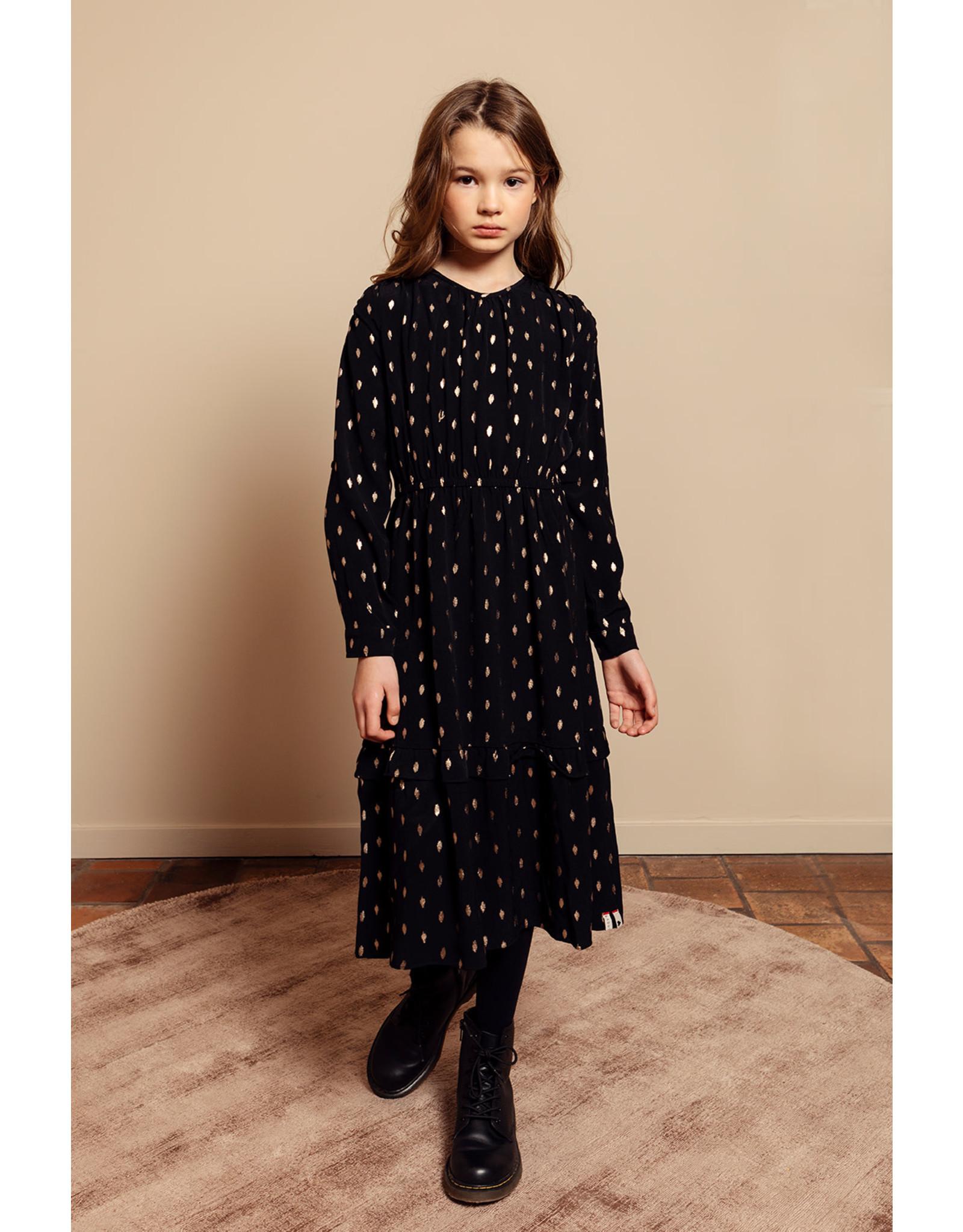 Looxs 10Sixteen long dress with foil black