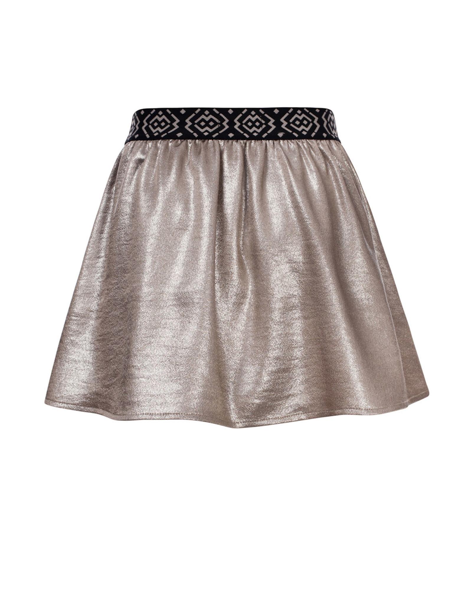 Looxs 10Sixteen woven metallic skirt White silver