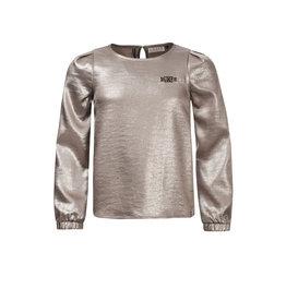 Looxs 10Sixteen woven metallic top White silver