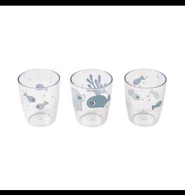 Done by Deer Yummy mini glass 3 pcs Sea Blue