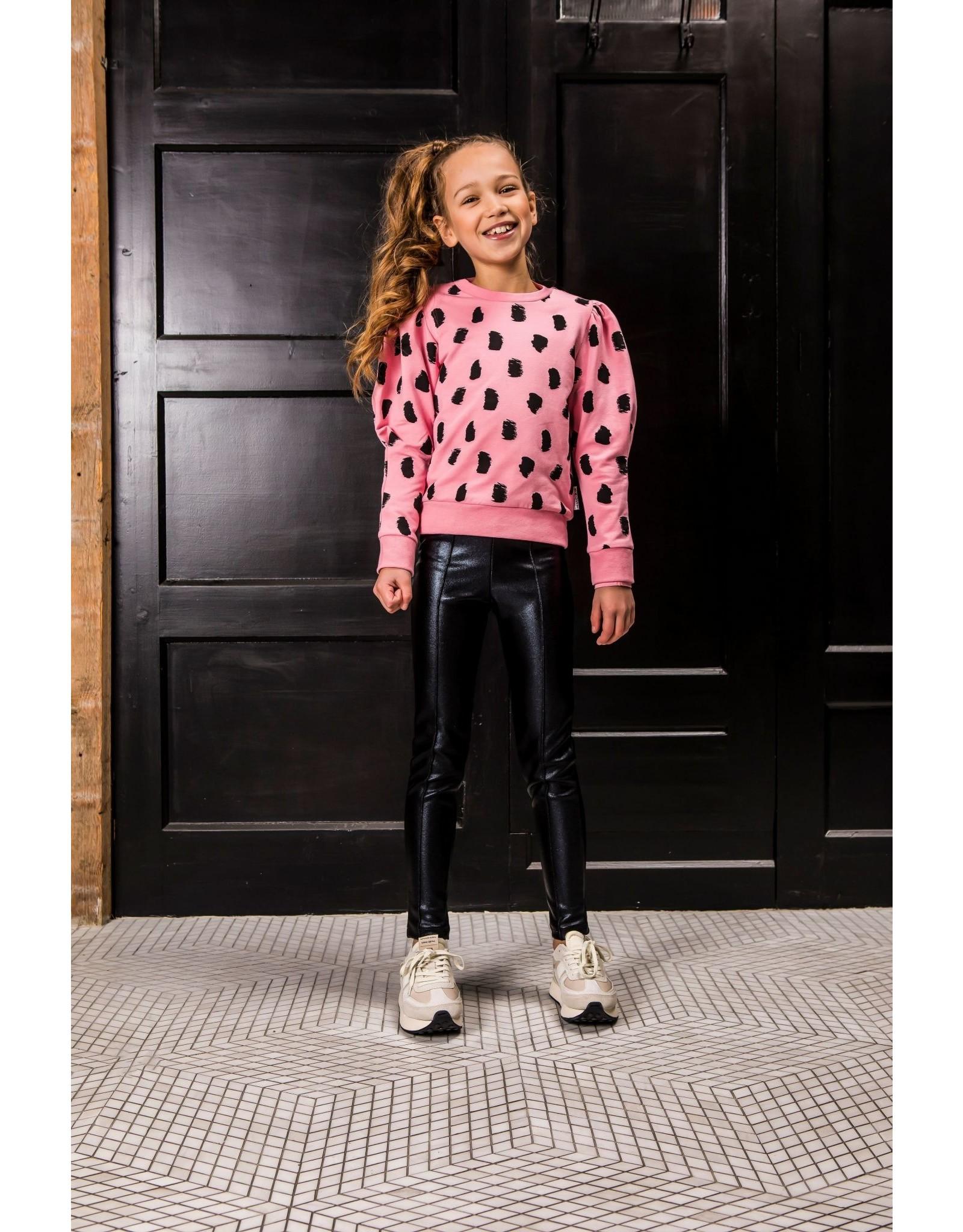 B-nosy Girls black coated pants 099 Black