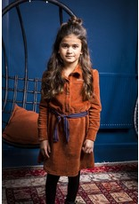 B-nosy Girls corduroy dress with puffed sleeves and high cuffs 575 Camel