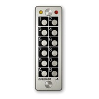 Anti-vandalism stand-alone keypad, 2 relays, 120 codes programmable
