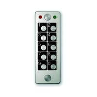 Anti-vandalism stand-alone keypad, 1 relay, 60 codes programmable