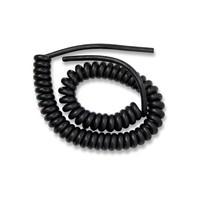 Spiraal kabel, 5 meter lengte totaal, 4 aderig x 0.75