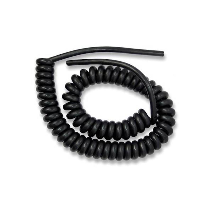 Spiraal kabel, 5 meter lengte totaal, 4 aderig x 0.75-1