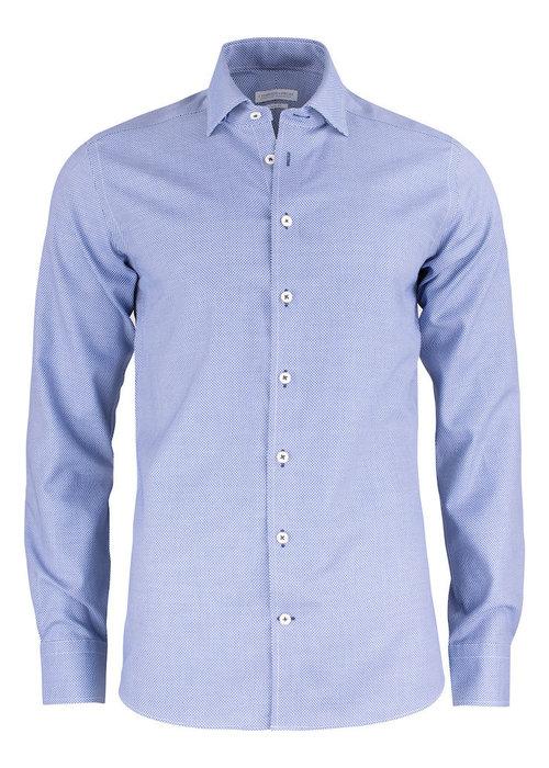 J. Harvest & Frost Purple Bow 48 Regular Fit Overhemd Blauw Met Patroon