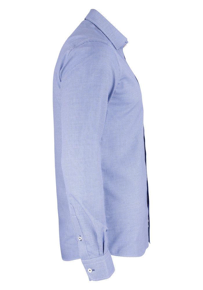 Purple Bow 48 Regular Fit Overhemd Blauw Met Patroon