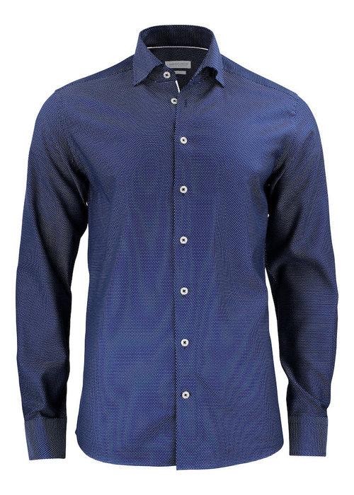 J. Harvest & Frost Purple Bow 49 Regular Fit Overhemd Navy/Wit