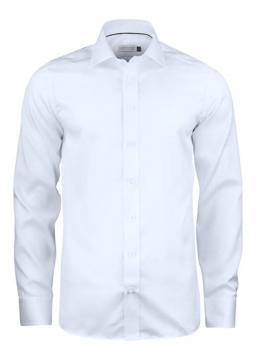 J. Harvest & Frost Green Bow 01 Slim Fit Overhemd Wit