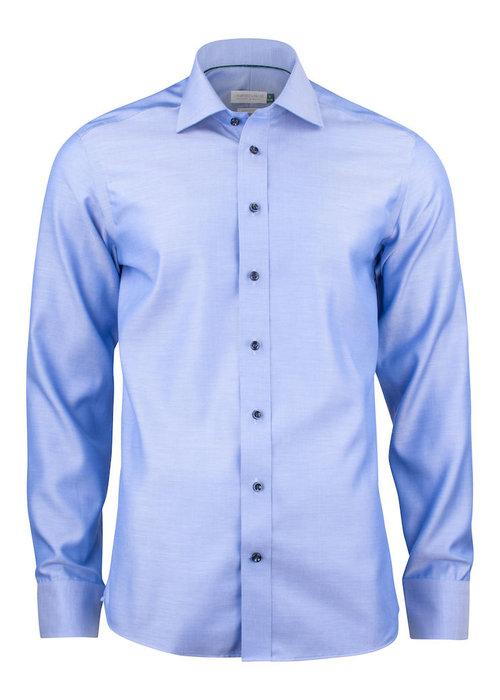 J. Harvest & Frost Green Bow 01 Slim Fit Overhemd Diep Blauw