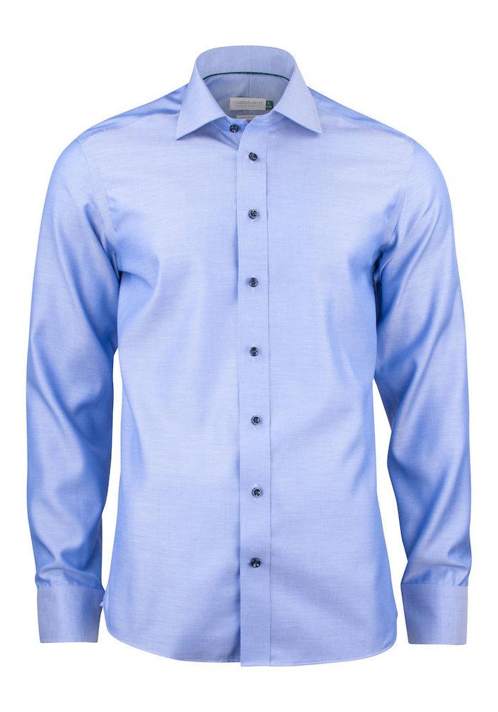 Green Bow 01 Slim Fit Overhemd Diep Blauw