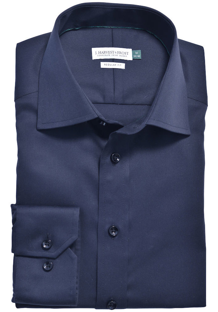 Green Bow 01 Slim Fit Overhemd Navy