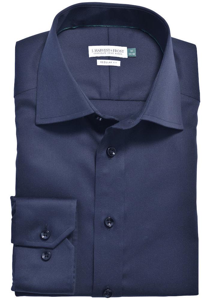 Green Bow 01 Regular Fit Overhemd Navy