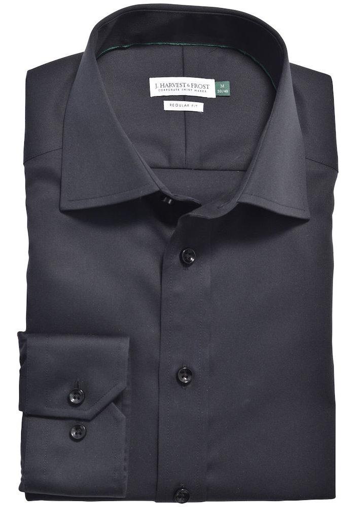 Green Bow 01 Slim Fit Overhemd Zwart