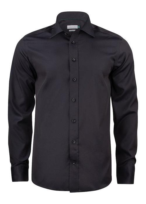 J. Harvest & Frost Green Bow 01 Slim Fit Overhemd Zwart