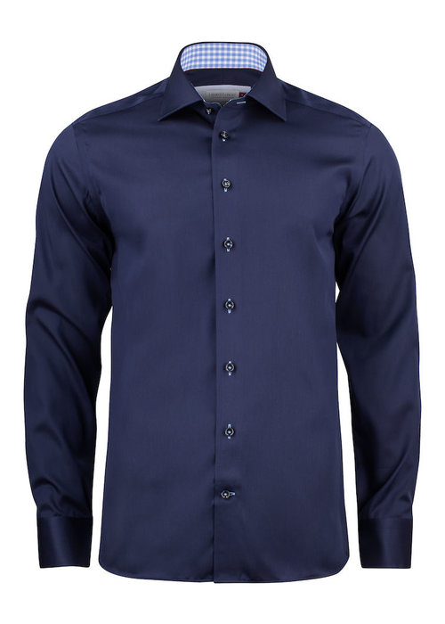 J. Harvest & Frost Red Bow 20 Regular Fit Overhemd Navy Blauw