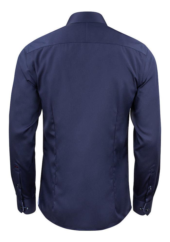 Red Bow 20 Regular Fit Overhemd Navy Blauw