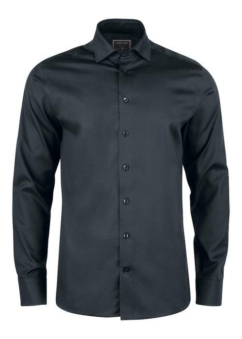J. Harvest & Frost Black Bow 60 Slim Fit Overhemd Zwart