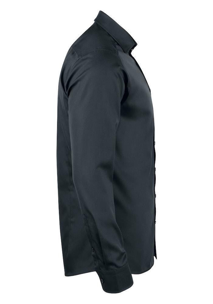 Black Bow 60 Slim Fit Overhemd Zwart