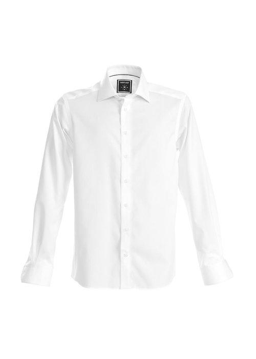 J. Harvest & Frost Black Bow 60 Slim Fit Overhemd Wit