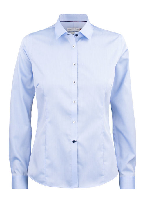 J. Harvest & Frost Red Bow 29 Dames Blouse Skyblue