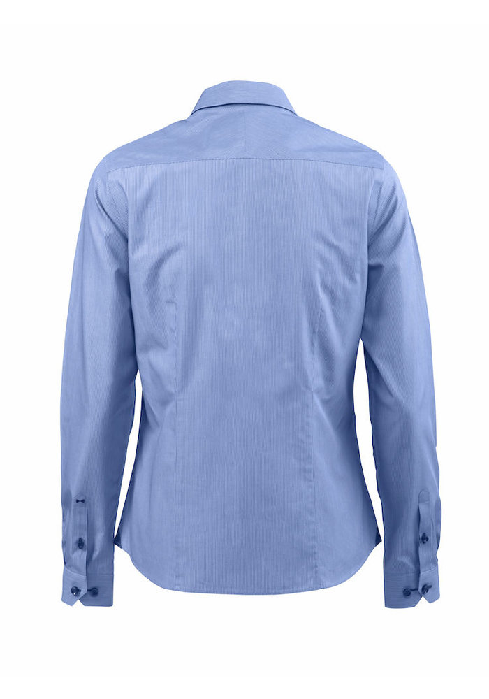 Red Bow 24 Dames Blouse Blauw Gestreept